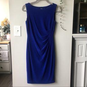 Sleeveless Royal Blue Cocktail Professional Dress